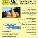 Primeira oficina do curso de Tecnologias em Bioconstrução