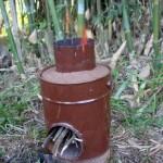 Fogão Foguete (Rocket Stove) - Tecnologia de Combustão Limpa e Eficiênte